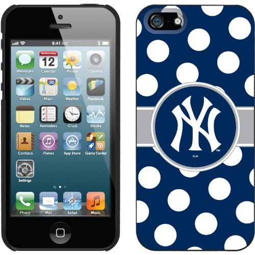 Special Sale New York Yankees - Polka Dots design on a Black iPhone 5 Thinshield Snap-On Case by Coveroo