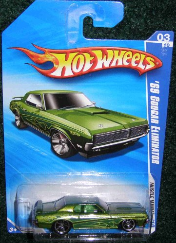 2010 HOT WHEELS MUSCLE MANIA 03/10 GREEN '69 COUGAR ELIMINATOR