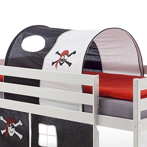 Tunnel-MAX-fr-Hochbett-Rutschbett-Spielbett-Kinderbett-in-schwarzwei-PIRAT