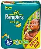 Pampers Windeln Baby Dry Gr.5+ Junior Plus 13-27kg Monatsbox, 132 St�ck