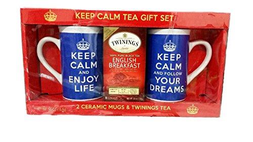 Keep Calm Mug Set in Royal Blue