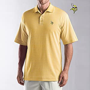 Cutter & Buck Minnesota Vikings Santa Cruz Polo by Cutter & Buck