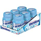 Mentos Gum Pure Fresh, Pure Breath Freshness, Mint with Green Tea Extract, Sugar Free, 6 Cans of 35 Chewing Gums