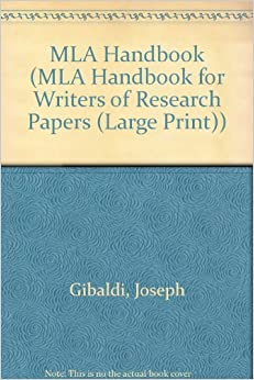 gibaldi joseph. mla handbook for writers of research papers Mla handbook for writers of research papers by gibaldi, joseph and a great selection of similar used, new and collectible books available now at abebookscom.