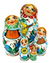 Musical Instruments Nesting Doll 5-pc in Red
