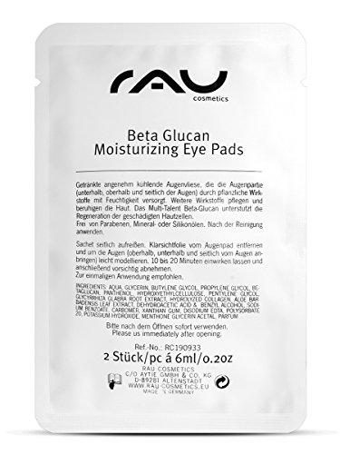 RAU Beta Glucan Idratante per occhi 1pc-Idratante, raffreddamento Eye in pile-Maschera Idratante Eye Patch con Beta Glucan, Aloe Vera e pantenolo