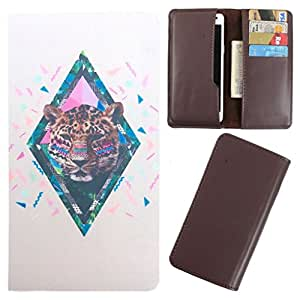 DooDa - For iBall Andi 4D i+ PU Leather Designer Fashionable Fancy Case Cover Pouch With Card & Cash Slots & Smooth Inner Velvet