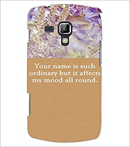 PrintDhaba Quote D-3718 Back Case Cover for SAMSUNG GALAXY S DUOS S7562 (Multi-Coloured)