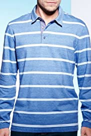 Blue Harbour Pure Cotton Birdseye Stripe Polo Shirt [T28-2412b-S]