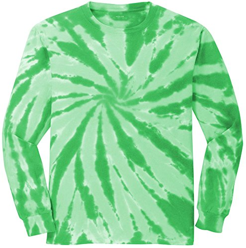 Koloa Surf (tm) Youth Colorful Long Sleeve Tie-Dye T-Shirt in Youth Sizes XS-XL (Green Tye Dye Long Sleeve Shirt compare prices)