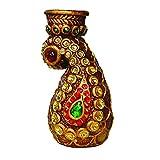 Artistique Antique Design Pasley Tea Light Holder With Beautiful Stone Work - B00R7SFM88