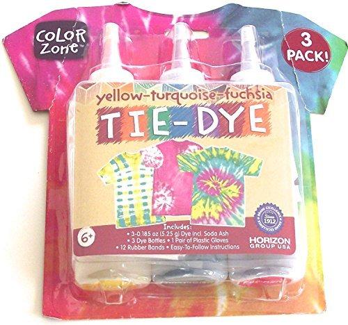Yellow Turquoise Fuchsia Tie-Dye Kit
