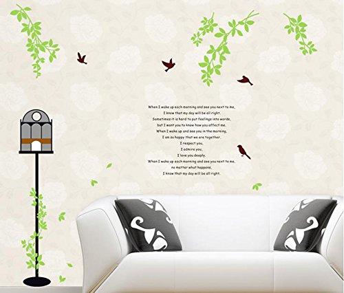 Decals Arts Birdcage And Birds Vinyl Wall Sticker For Kids Rooms