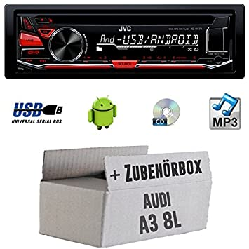 Audi A38L-JVC KD r471e-Kit de montage autoradio CD/MP3/USB -