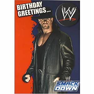 WWE The Undertaker Birthday Card with badge 5 x 7