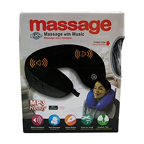 Guee Ergonomically Travel Neck Massage Pillow With Music Mp3 Ready In Multicolor (With Free Token)