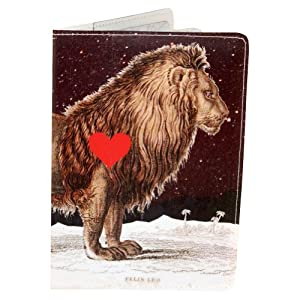 Leo Starry Lion Heart Passport Holder