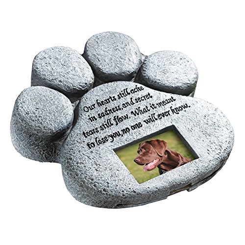 Paw Print Pet Memorial Stone (Dog Picture Frame Memorial compare prices)
