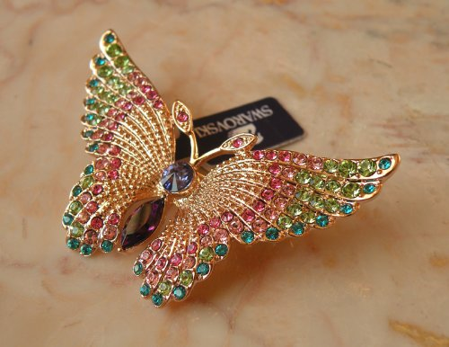 Austrian Swarovski Crystal Fashion Lady Pin Brooch -Beautiful and The Highest Quality Austrian Crystal with Elegant Butterfly Design 6 cm W x 4 cm H Comes With Free Swarovski Jewelry Box,Attractive and Gorgeous . Super Saving w/100% Satisfaction Guaranteed ! A Great Gift For Your Friends or Loved Ones.