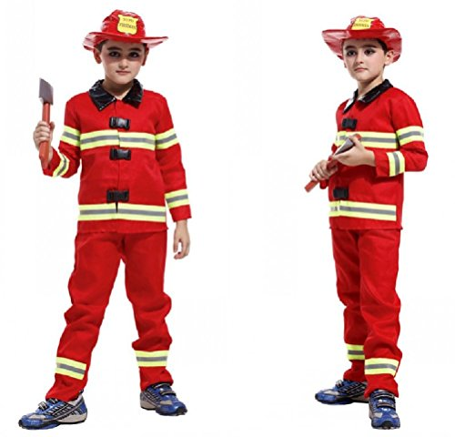 Purplebox Children Halloween Cosplay Costume Fireman Clothing