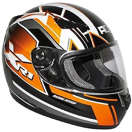 Casque moto intégral ADX XR1 RACING - Noir / Orange
