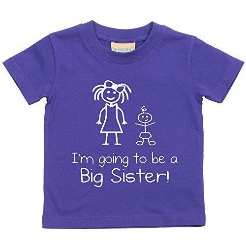 I' m Going To Be A Big Sister Maglietta viola Baby per bambini disponibile in taglie 0-6mesi a 14-15anni New Baby Sister Gift viola Purple 3 - 4 anni