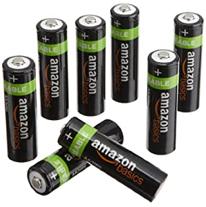 AmazonBasics AA NiMH Precharged Rechargeable Batteries-8-Pack, 2000 mAh (Discontinued by Manufacturer)