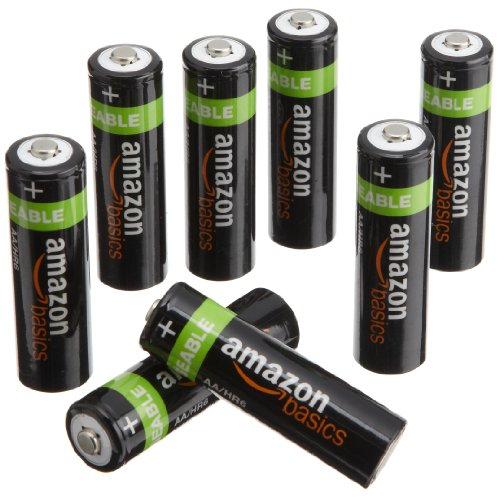 AmazonBasics AA NiMH Precharged Rechargeable Batteries (8-Pack, 2000 mAh)