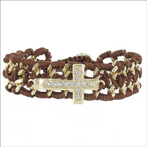 JOA Crystal Stone Cross Accent Bracelet #041466