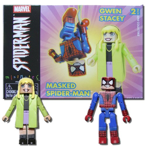 Marvel MiniMates Masked SpiderMan and Gwen Stacy - 1