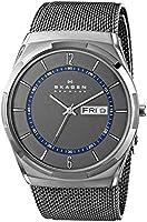 Skagen Men's SKW6078 Melbye Grey Titanium Watch with Mesh Strap