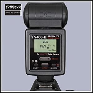 Yongnuo YN-468 II i-TTL Speedlite Flash With LCD Display, for Nikon