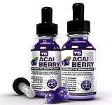 x2 Super Strength Acai Cleanse Drops : T5 Fat Burner & Pure Acai Berry Extract Blend / Advanced Diet Pills Alternative (2 Month Supply)