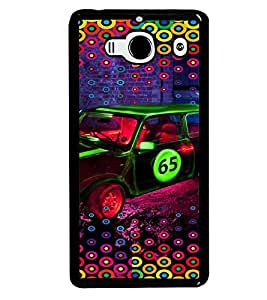 PRINTVISA Abstract Car Pattern Case Cover for Xiaomi Redmi 2S::Xiaomi Redmi 2::Xiaomi Redmi 2 Prime