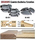 Infinity Tools 00-803, 3-Piece 15° Shaker Style Cabinet Door Making Shaper Set, 3/4