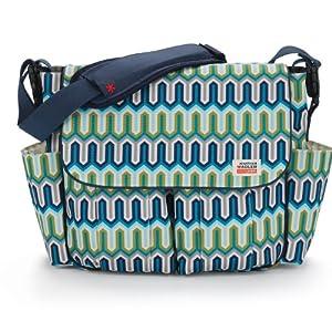 Skip Hop Jonathan Adler Dash Diaper Bags, Chevron Blue