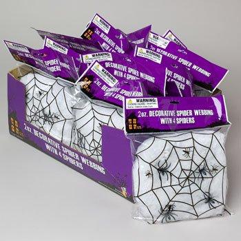 Spider Webbing W/4 Spiders