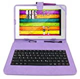 DURAGADGET Protective Leather Look Case With Micro USB German Keyboard + FREE Stylus Compatible With Archos 101 XS, Archos 10.1 Internet Tablet, Archos Gen 10 G10 Gen10 101 XS Turbo (ARM Cortex A9 1.5GHz, Android 4), 101 G9 501870 Gen9 (RAM 512MB ) & Arn