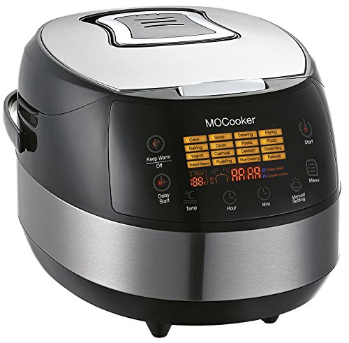 Slow Cooker 6 Quart Size w/ Heating & 16 - 1 Preset Functions - Advanced 3D Dynamic Heating - Quick Reheat - 24 Hour Delay Timer - Auto Keep Warm - Accessories Incl Slow Cooker Recipes (Viking Double Oven Parts compare prices)