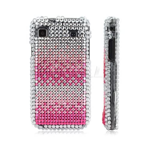 Ecell   PINK CRYSTAL BLING CASE FOR SAMSUNG I9000 GALAXY S