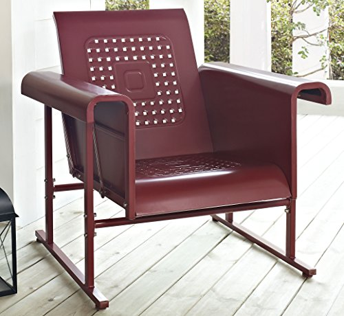 Crosley Veranda Single Glider Chair, Coral Red