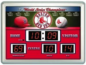 Boston Red Sox MLB 14 X 19 Scoreboard Clock by Unknown