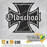 Oldschool Eisernes Kreuz 12 x 10 cm JDM Decal Sticker Aufkleber Racing Die Cut