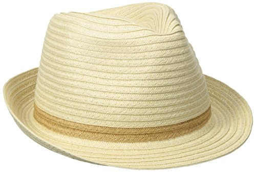 san-diego-hat-womens-lurex-mixed-braid-fedora-tobacco-one-size