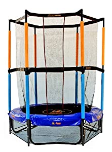 hudora 65175 safety trampoline jump in 140 cm with. Black Bedroom Furniture Sets. Home Design Ideas