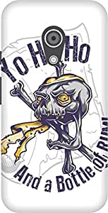 The Racoon Grip printed designer hard back mobile phone case cover for Moto G 2nd Gen. (Pirate San)
