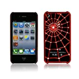 Spider-man Red Spider Web Hard Case For Apple iPhone 4