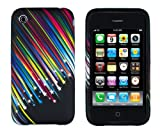 Shooting Stars Flexible TPU Gel Case for Apple iPhone 3G, 3GS