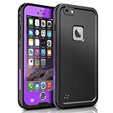 buy Iphone 6S 6 St Waterproof Case [New Version] 6.6Ft Underwater Waterproof Shockproof Snowproof Dirtproof Protective Case Impact Resistant Cover For Iphone 6S 6 4.7 Inch (Purple)