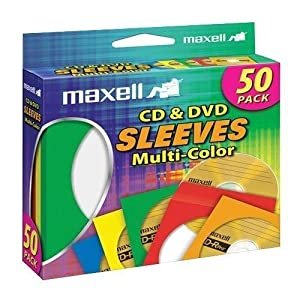 Maxell CD-401 Multi-color CD/DVD Sleeves
